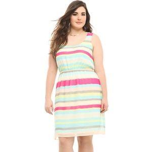 Torrid Striped Chiffon Tank Dress 0